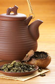 Tea and teapot — 图库照片