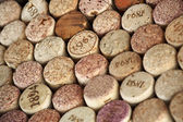 Assorted wine corks — Foto de Stock