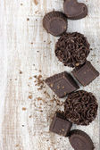 Homemade chocolate candies — Stock Photo