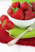 Strawberries in bowl — Stock Photo