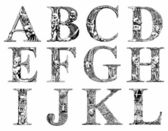 Terrible font — Stock Vector