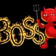 Royalty-Free Stock Vector Image: Boss - a demon