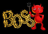 Boss - a demon — Stock Vector