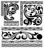 Set of patterns — Stock Vector