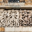Lincoln Cathedral facade decoration - Stock Photo