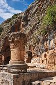 Cacerola templo ruinas, golán, israel — Foto de Stock