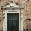 Cathedral door, Albenga, iguria, Italy — Stock Photo