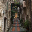 Narrow streets in Dolceacqua, Liguria, Italy — Stock Photo