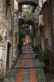 Narrow streets in Dolceacqua, Liguria, Italy — Zdjęcie stockowe