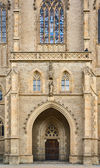 Saint Barbara's Church door — Stock Photo