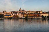 Prague Castle with the St. Vitus Cathedral — Stock Photo