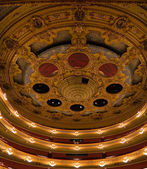 Vaulted ceiling and boxes at the Teatro Liceu, Barcelona — Stock Photo