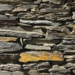 Stock Photo: Stone wall. made of slate stone