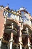 äußere des palau de la musica in barcelona — Stockfoto