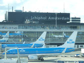 Plane being loaded at Schiphol Airport — Stock Photo