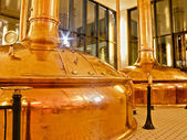 Antik öl fabrik — Stockfoto