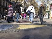Ramblas Barcelona, İspanya. — Stok fotoğraf