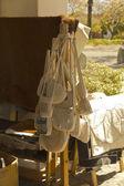 Work in thread. Uruguayan textile industry. — Stock Photo