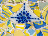 Mosaic of Park Guell designed by Antonio Gaudi in Barcelona — Stock Photo