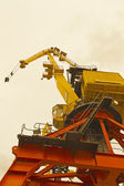 Bottom view of classical Cranes — Stock Photo