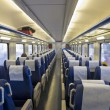 Stock Photo: Interior of passenger train with empty seats