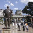 The statue 'Adan'. Botero square, Medellin. - Стоковая фотография
