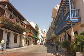 Cartagena de Indias street — Stock Photo