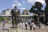 The statue 'Adan'. Botero square, Medellin. — Stock Photo
