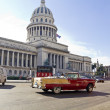 Old cars running and parked in front of the Capitol — Stock Photo #19701185
