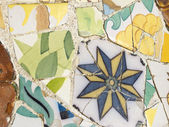 Background of Antonio Gaudi mosaics — 图库照片