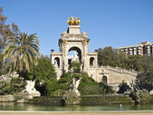 The park's fountain. Barcelona, Spain. — Foto de Stock