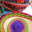 Traditional hats, Market of Santiago de Chile — Stock Photo