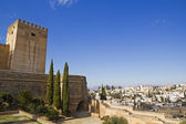 Alcazaba of Alhambra and Granada — Stock Photo
