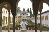 The Court of la Acequia. Generalife. — Stock Photo