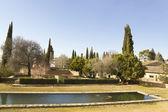 Alhambra gardens — Stockfoto
