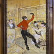 Painting by Toulouse Lautrec. - Stock Photo