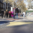 The Ramblas of Barcelona, Spain. - Stock Photo