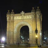 Arch of Triumph by night — Stock Photo