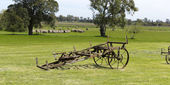 Antique farming equipment — Stock Photo