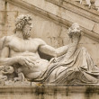 Tiber as a god. Campidoglio, Rome. - Stock Photo