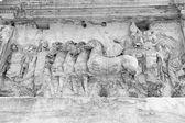 Detail der bogen des septimius severus. rom. — Stockfoto