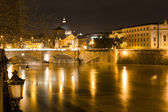 Rome by night. Vittorio Emanuele bridge — Stock Photo