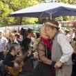 Tango dancers performs in San Telmo, Buenos Aires, Argentina — Stock Photo