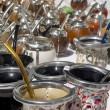 Mate calabash cups sale in Argentina. — Stock Photo