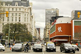 Corrientes Avenue in Buenos Aires — Stock Photo