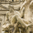 Stock Photo: Detail od Statue. PiazzNavona, Rome