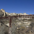 Suspension bridge in Cuenca, Spain - Stock Photo