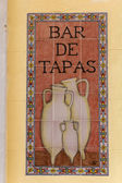 Sign tapas in a Spanish bar — Stock Photo