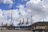 Activity in the seaport of Montevideo, Uruguay. — Stock Photo