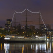 Stock Photo: Ship by night in Buenos Aires